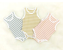 Load image into Gallery viewer, Stripe Bodysuit - Mustard