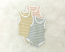 Load image into Gallery viewer, Stripe Bodysuit - Blue