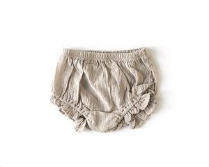 Ruffle Bloomers in Stone