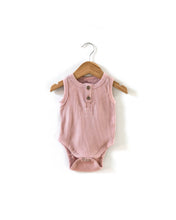 Load image into Gallery viewer, Ribbed Sleeveless Bodysuit - Dusty Pink