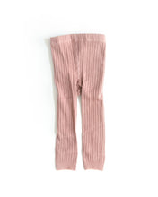 Load image into Gallery viewer, Ribbed Knit Tights - Pink - Little Boo Store