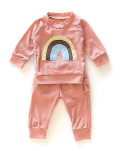 Rainbow Ruffle Sweater & Pant Set - Little Boo Store