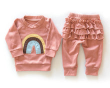 Load image into Gallery viewer, Rainbow Ruffle Sweater & Pant Set - Little Boo Store