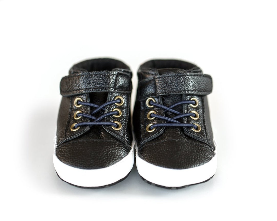 Dude Shoes in Leather Black - Little Boo Store
