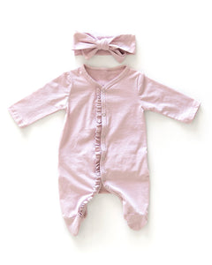 Ruffle Suit - Dusty Pink - Little Boo Store