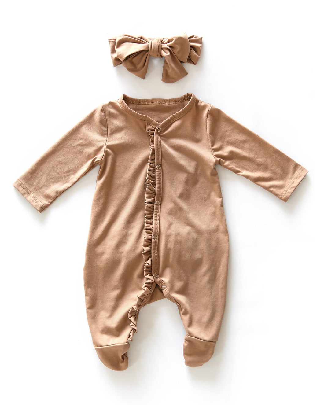 Ruffle Suit - Caramel - Little Boo Store