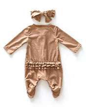 Load image into Gallery viewer, Ruffle Suit - Caramel - Little Boo Store