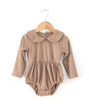 Load image into Gallery viewer, Janey Ribbed Romper - Camel - Little Boo Store