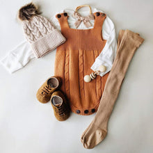 Load image into Gallery viewer, Quinn Knit Romper - Camel - Little Boo Store
