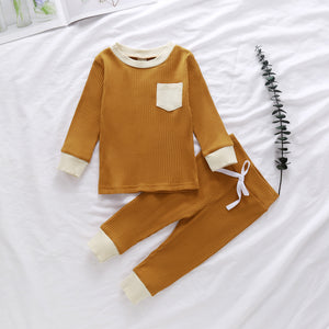Pocket Ribbed Set - Mustard
