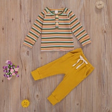 Load image into Gallery viewer, Stripe Tee + Pant Set - Little Boo Store