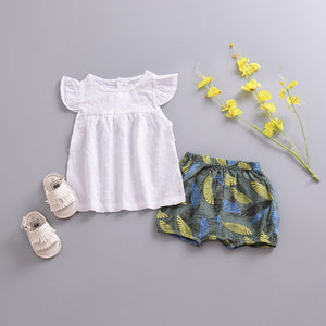Feather Shorties - Green - Little Boo Store