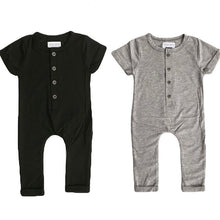 Load image into Gallery viewer, Plain Romper in Grey - Little Boo Store