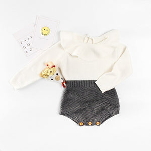 Lucille Knit Romper - Grey - Little Boo Store
