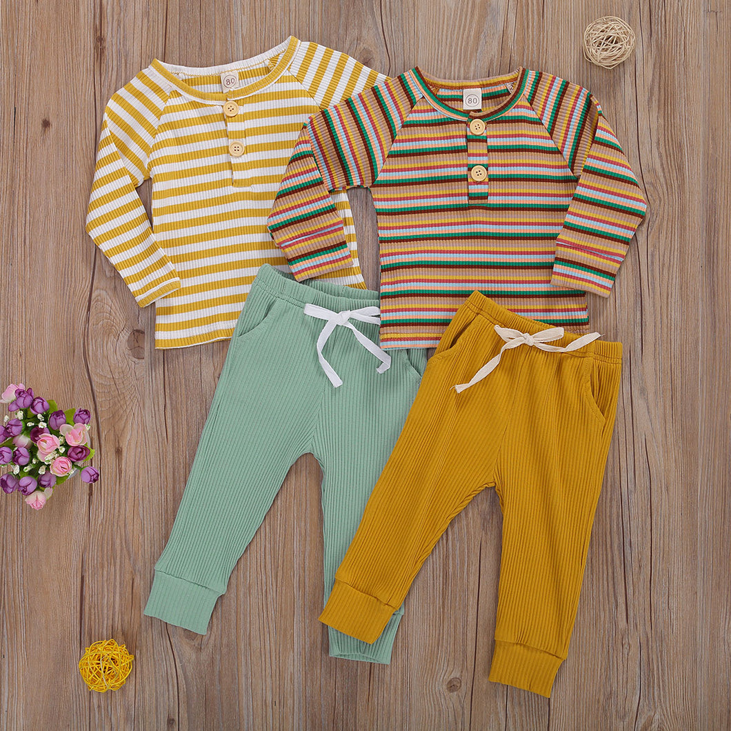 Stripe Tee + Pant Set - Little Boo Store