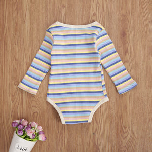 Ribbed Retro Bodysuit - Fairy floss - Little Boo Store