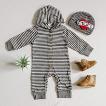 Load image into Gallery viewer, Mason Striped Hoodie Jumpsuit - Little Boo Store