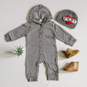 Mason Striped Hoodie Jumpsuit - Little Boo Store