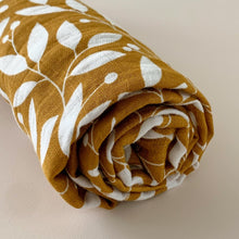 Load image into Gallery viewer, Muslin Swaddle - Leaf Pattern - Little Boo Store