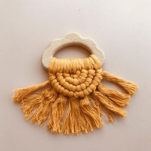 Load image into Gallery viewer, Cloud Tassel Teether - Sunshine