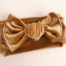 Load image into Gallery viewer, Velvet Knot Headband - Caramel - Little Boo Store