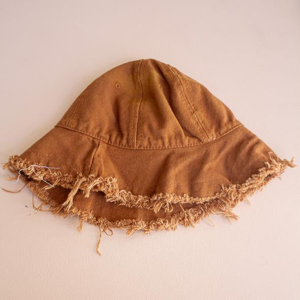 Cotton Fray Hat - Camel