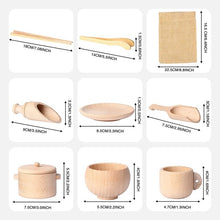 Load image into Gallery viewer, Wooden Sensory Bin Tools - Montessori Toys