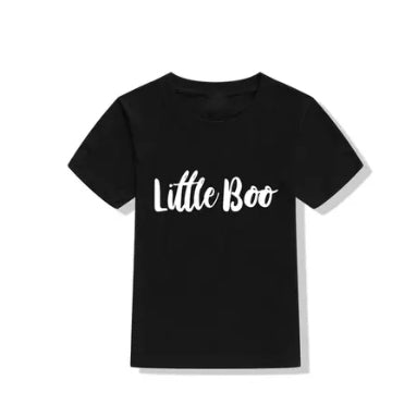 'Little Boo' Tee - Black - Little Boo Store