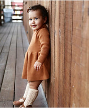 Load image into Gallery viewer, Ribbed Knit Dress - Beige - Little Boo Store