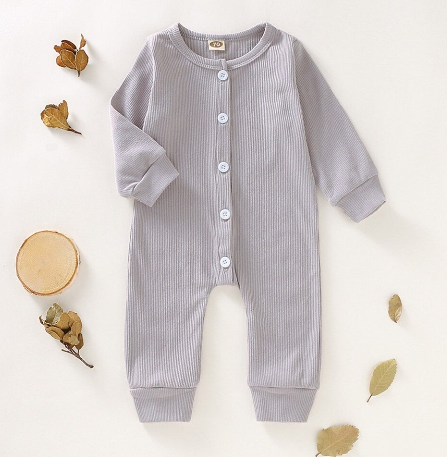 Archer Ribbed One Piece - Grey - Little Boo Store