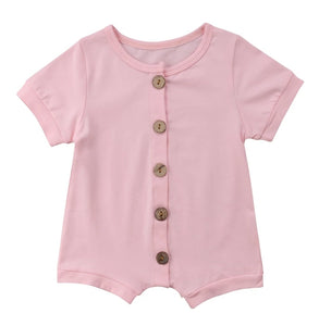 Basic Romper Pink - Little Boo Store