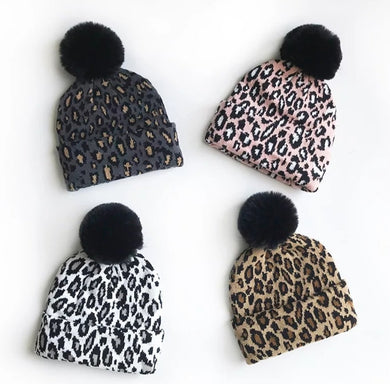 Leopard Beanies - Mama and Babe