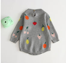 Load image into Gallery viewer, Tutti Frutti Knit Romper - Grey - Little Boo Store
