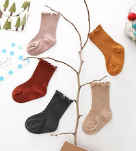 Load image into Gallery viewer, Ribbed Ruffle Trim Socks - Little Boo Store