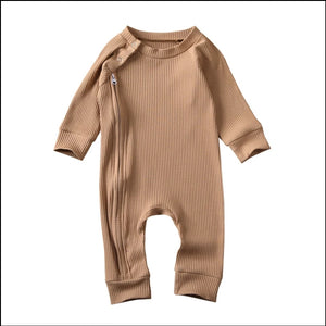 Ribbed Zippy Bodysuit - Little Boo Store