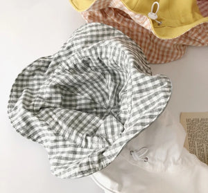 Cotton Check Hat