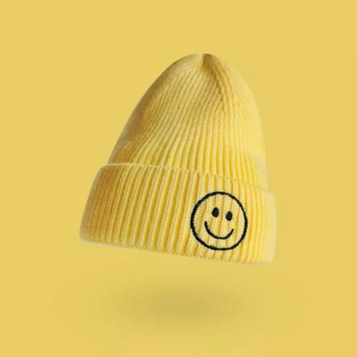 Smiley Face Beanie | Yellow