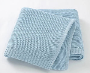 Knit Blanket | Baby Blue