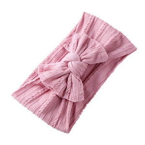 Top Knot Bow Headband — Blush