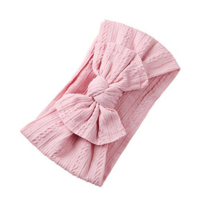 Top Knot Bow Headband — Pink