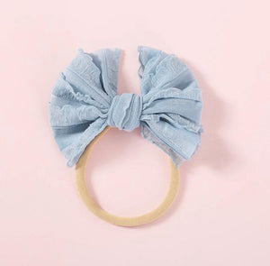 VINTAGE SKINNY BOW | DUSTY BLUE - Little Boo Store