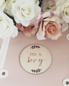 It's a BOY announcement plaque - Little Boo Store