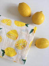 Load image into Gallery viewer, Muslin Swaddle - Lemon - Little Boo Store