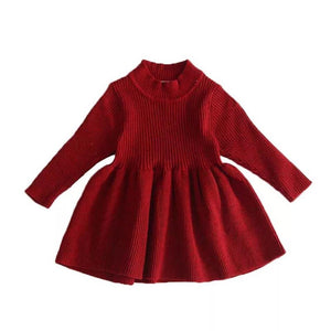 Ribbed Knit Dress - Little Boo Store