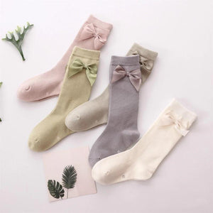 Pastel Bow Cotton Socks - Little Boo Store