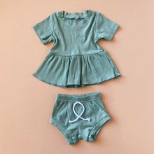 Load image into Gallery viewer, Peplum Ribbed Set - Little Boo Store