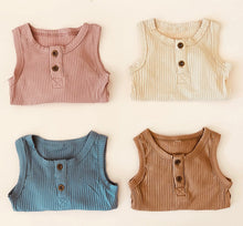 Load image into Gallery viewer, Ribbed Sleeveless Bodysuit - Oatmeal - Little Boo Store