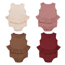 Load image into Gallery viewer, Peplum Ribbed Bodysuit - Little Boo Store