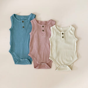 Ribbed Button Onesie - Little Boo Store
