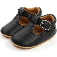 Load image into Gallery viewer, T Bar Shoes - Black